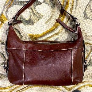 🗝 Fossil dark brown leather medium hobo purse 🗝